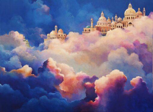 John Mcintosh Its Clouds Illusions Acrylic 122X92Cm