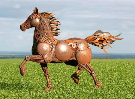 Jordan Sprigg Red Thunder Horse Sculpture