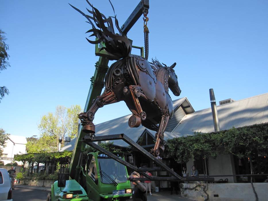 Jordan Sprigg Red Thunder Horse Sculpture Arrival 3