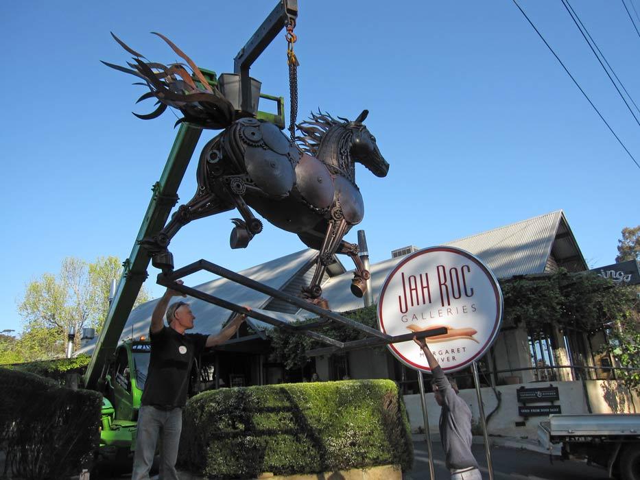 Jordan Sprigg Red Thunder Horse Sculpture Arrival 4