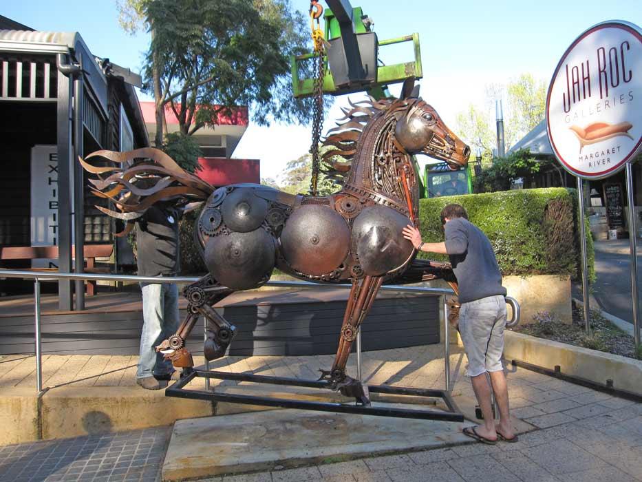 Jordan Sprigg Red Thunder Horse Sculpture Arrival 7