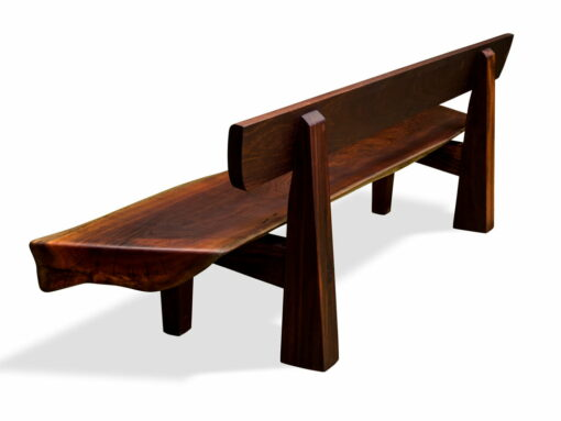The Moon Outdoor Jarrah Bench Seat Back View