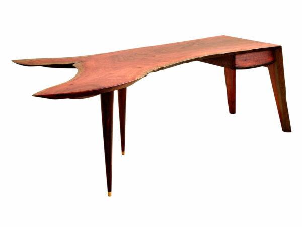 In Motion Desk Jarrah Crotch Wood Single Slab 2300Lx990Wx740H