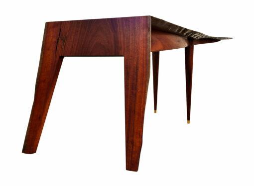 In Motion Desk Jarrah Crotch Wood Single Slab 2300Lx990Wx740H Under