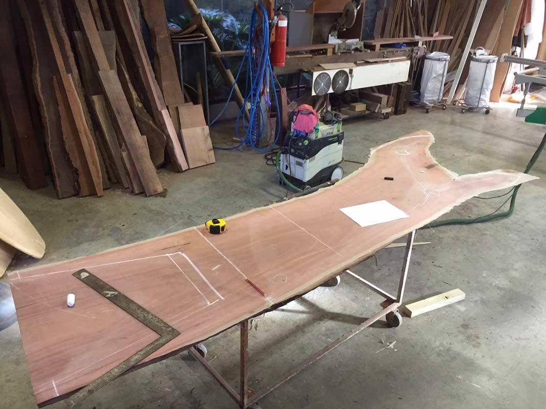 In Motion Jarrah Desk Construction 1