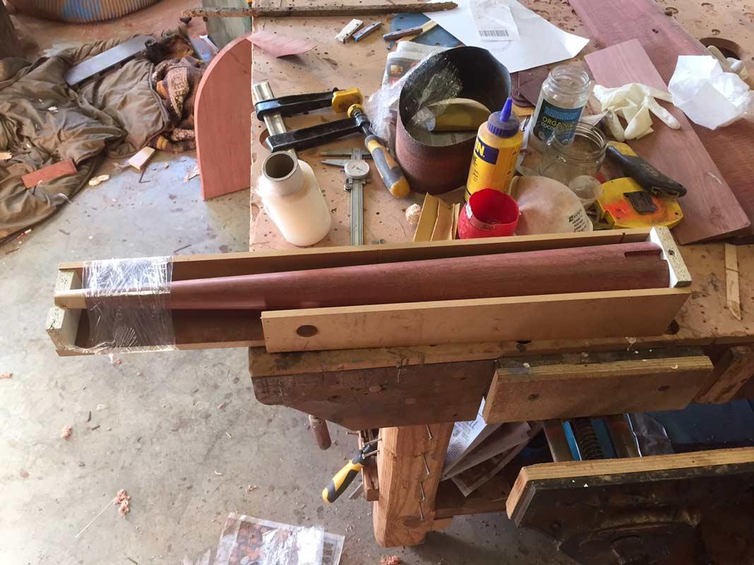 In Motion Jarrah Desk Construction 2