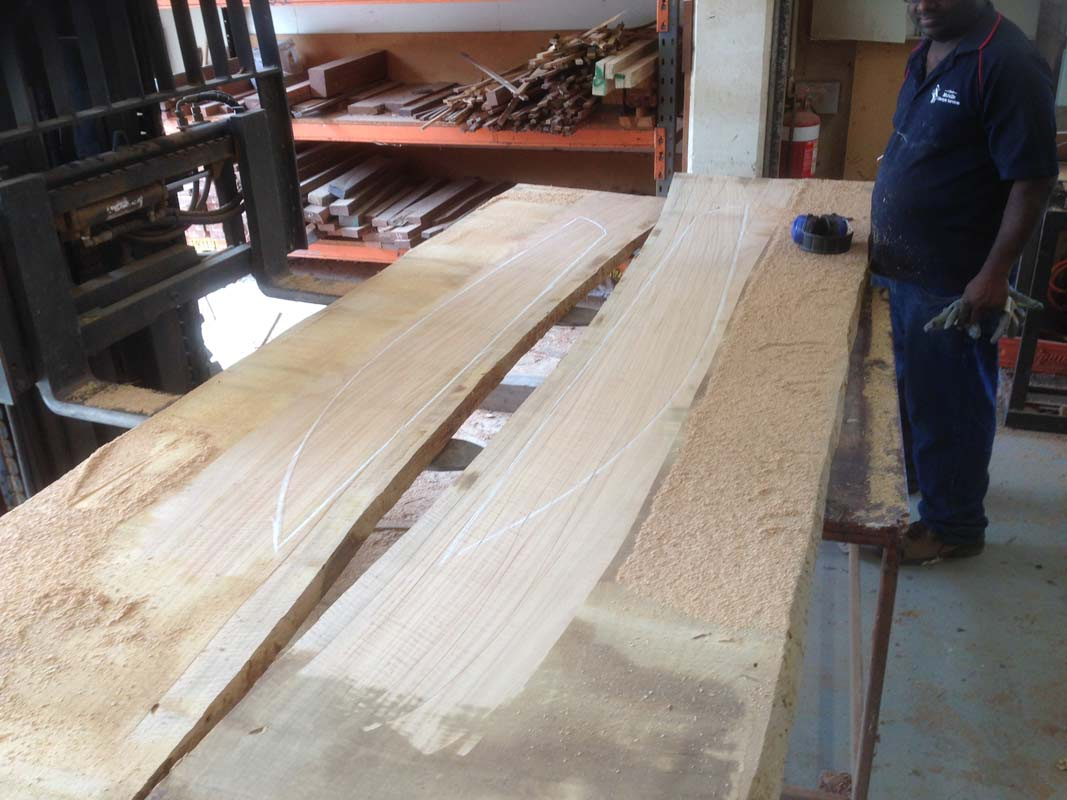 Marri Fish Hall Table In The Making 3