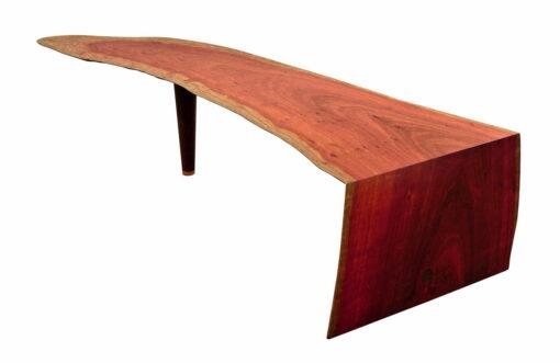 Mick Coffee Table Jarrah Skin Single Slab 1780Lx580Wx400H End View