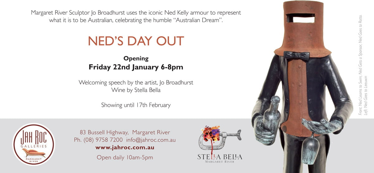 Jo Broadhurst Neds Day Out Exhibition Invite Back