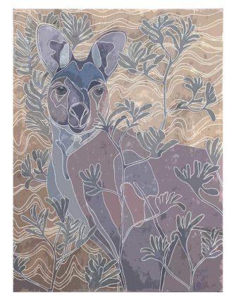 Kay Gibson   Kangaroo Camouflage Fine Art