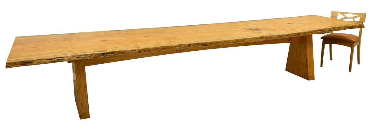 Marri Single Slab Dining Table Fine Furniture Design  : Nara Marri Single Slab Dining Table with Filigree Chair from www.jahroc.com.au size 1200 x 424 jpeg 95kB
