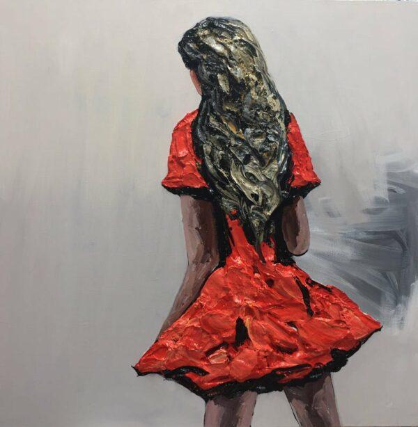 Palla Jeroff Desert Girl 3 Painting