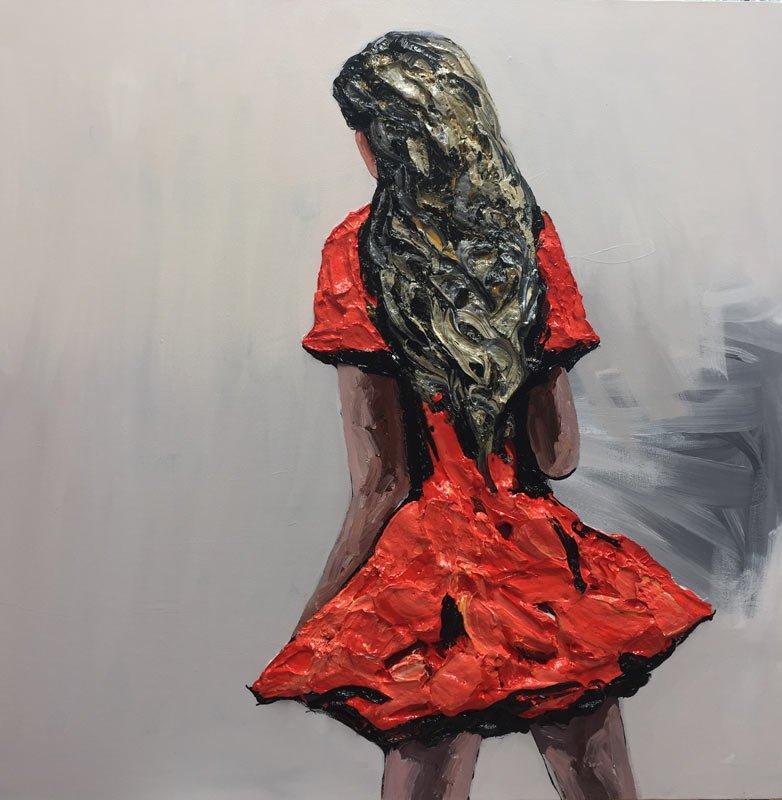 Palla Jeroff   Desert Girl 3 Fine Art