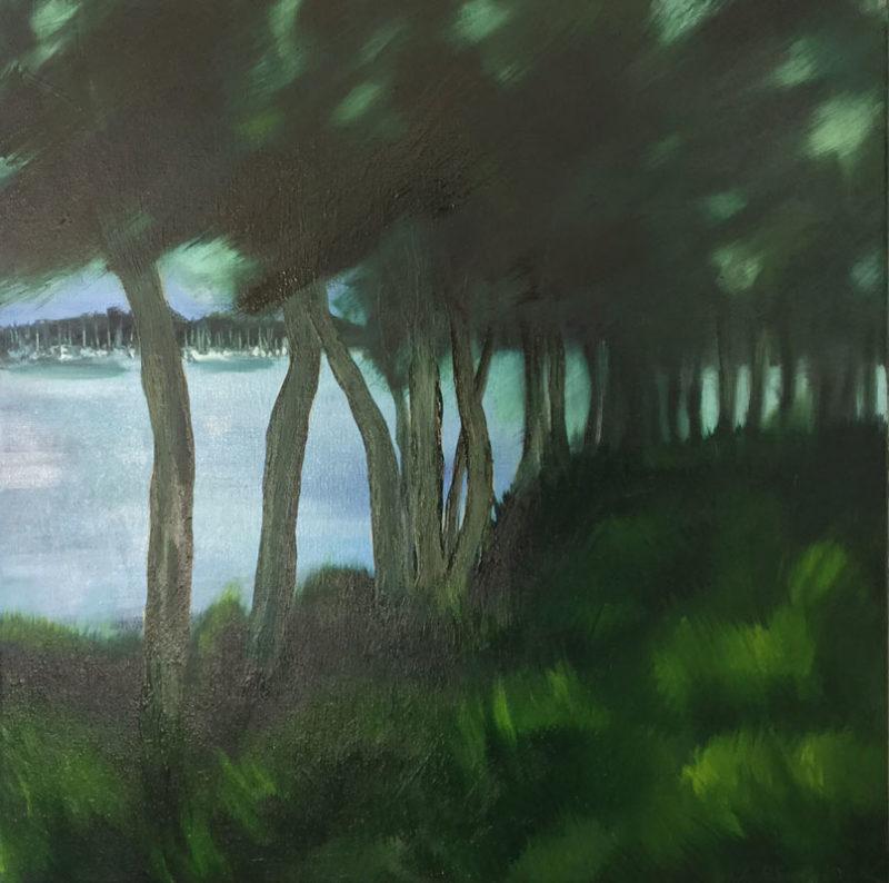 Rowena Keall Walsh   Tea Trees & Boats Fine Art