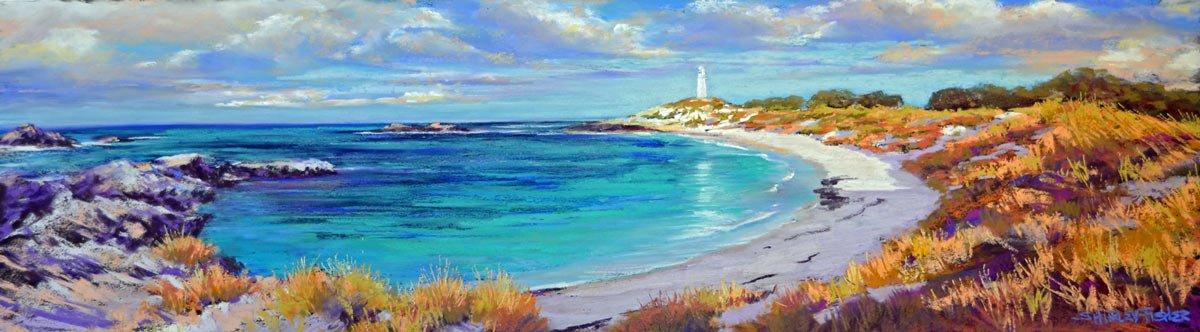 Shirley Fisher   Pinky Beach Rottnest Fine Art
