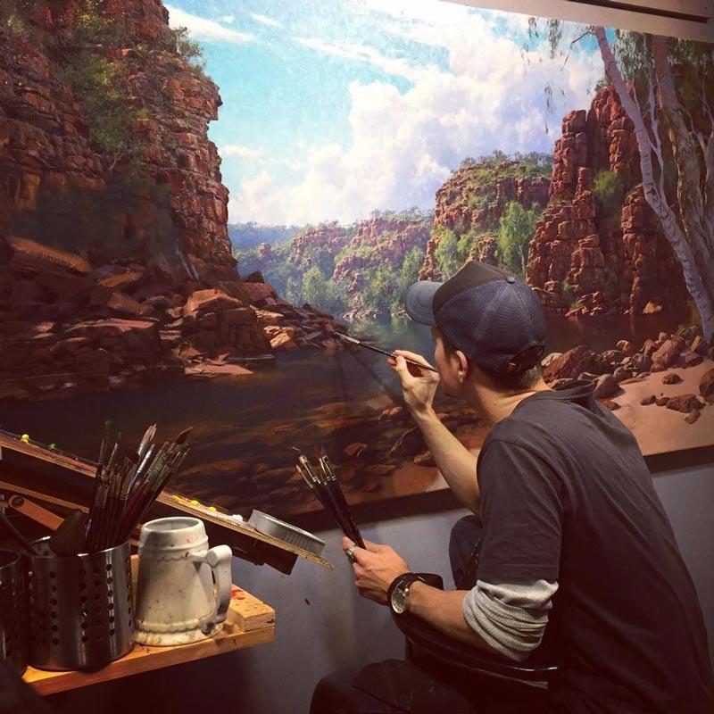 Andrew Tischler In Studio Painting 2
