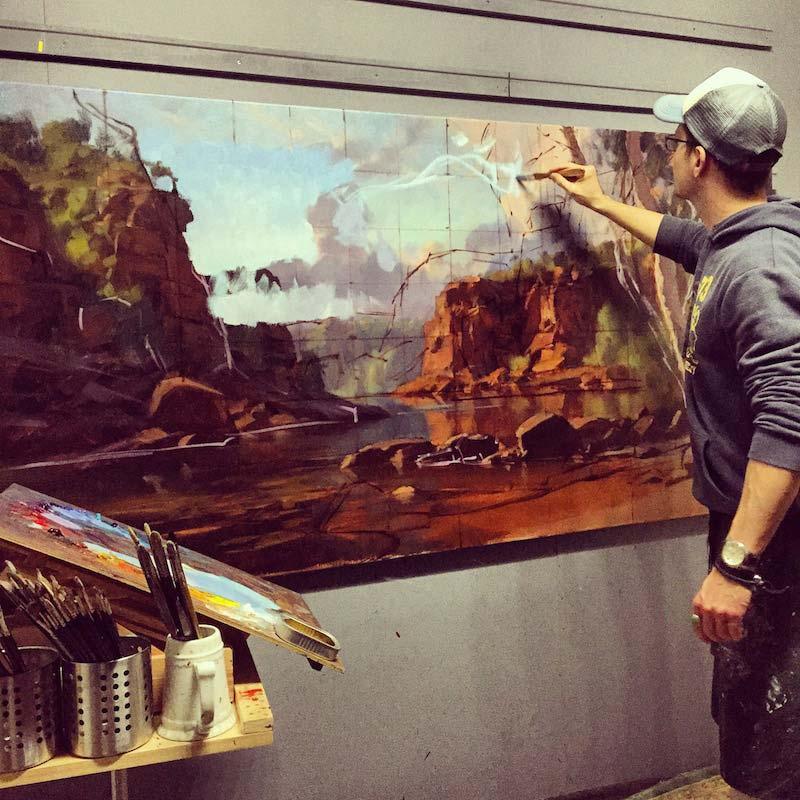 Andrew Tischler In Studio Painting 3