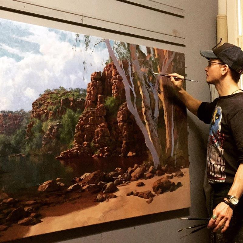 Andrew Tischler In Studio Painting