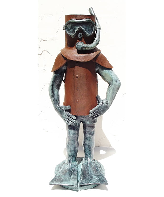 Jo Broadhurst Ned Goes To Rotto Sculpture Front 100Cm High