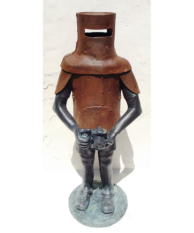 Jo Broadhurst Ned Joins The Grey Nomads Sculpture 125Cm High