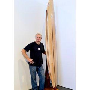 10' Gun Balsa Wooden Surfboard Gary Bennett.