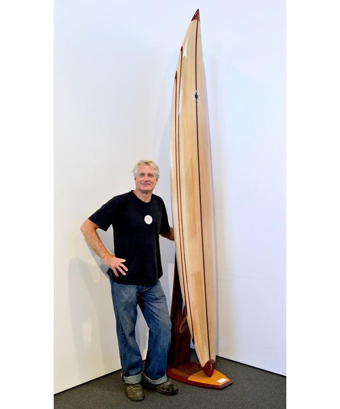 10 Gun Balsa Wooden Surfboard Gary Bennett
