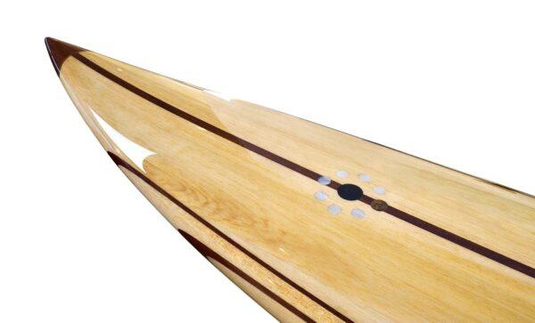 10 Gun Balsa Wooden Surfboard Nose Detail
