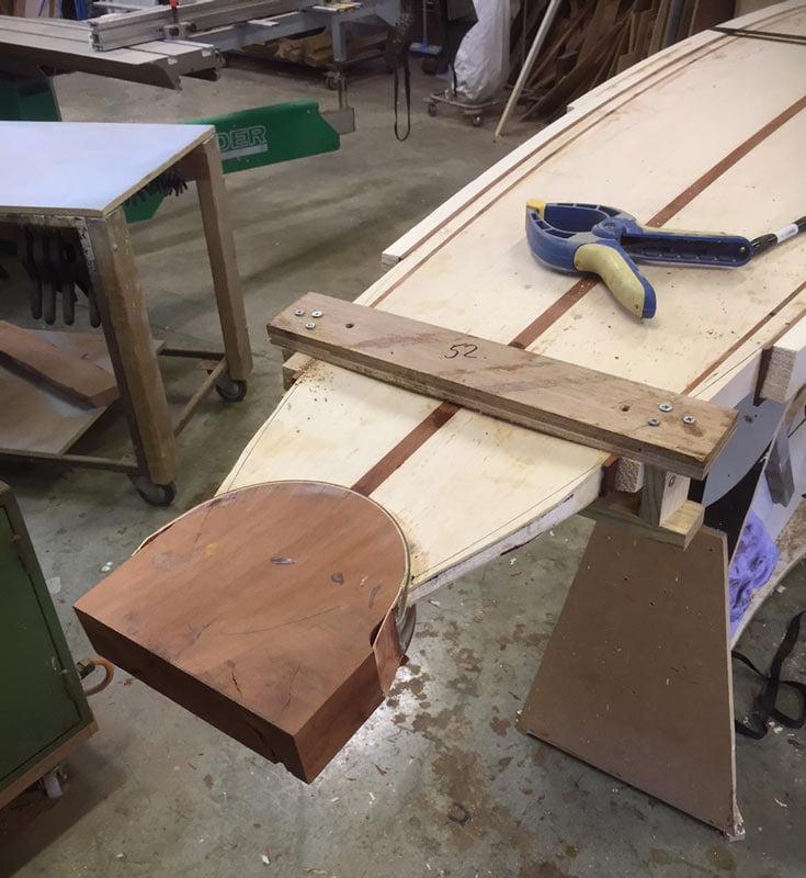 10 Gun Banks Wooden Surfboard In The Making 2
