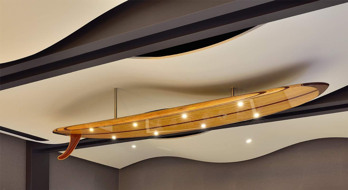 9 Gun Malibu Surfboard With Lights