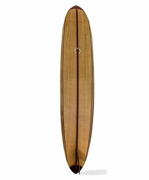 9 Gun Malibu Wooden Surfboard Back 1