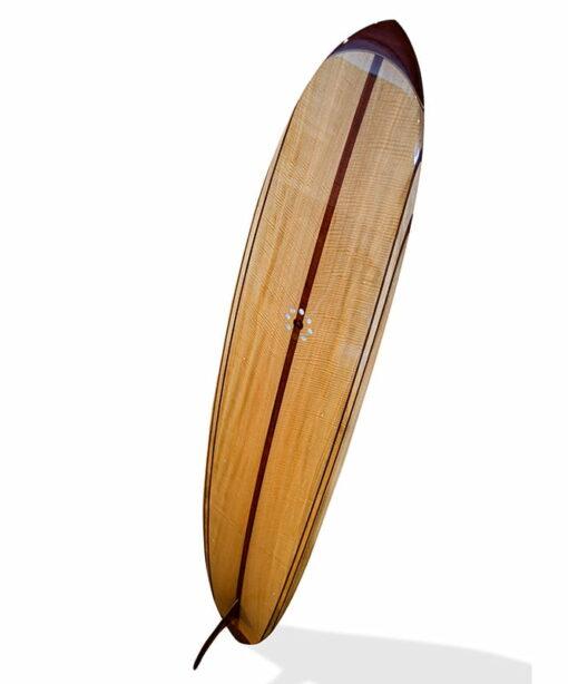 9 Gun Malibu Wooden Surfboard Back