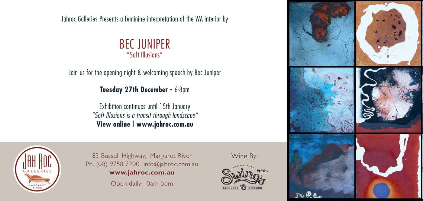 Bec Juniper Exhibition Flyer Back Info