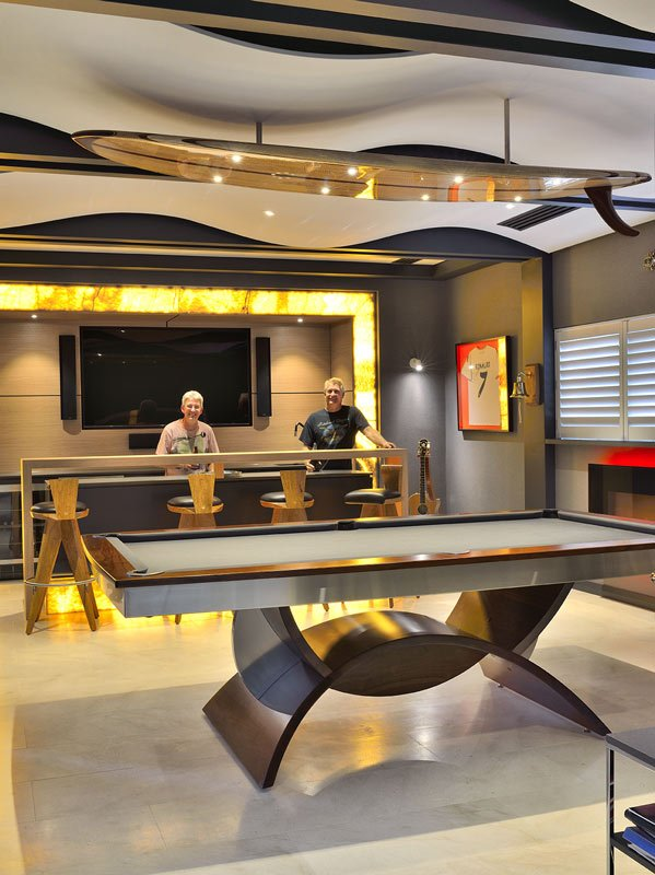 Man Cave Furniture Gary Bennett With Client