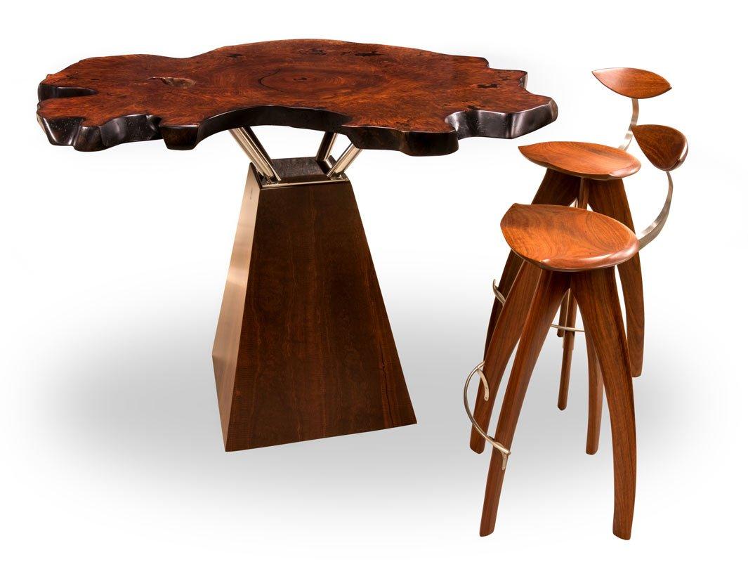 Jarrah Marri Timber Dining Tables Chairs Perth Wa Images  : Unique Jarrrah Burl Bar Table plus stools from favefaves.com size 1065 x 800 jpeg 87kB