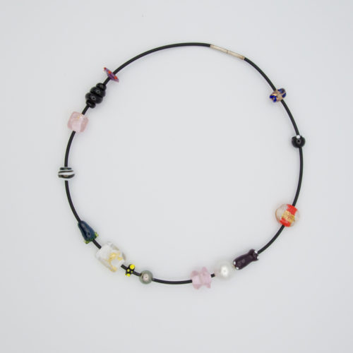 evelyn henschke choker glass pearl necklace