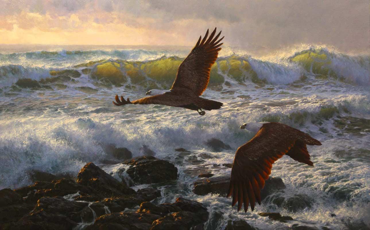 Andrew Tischler Final Flight Oil Painting