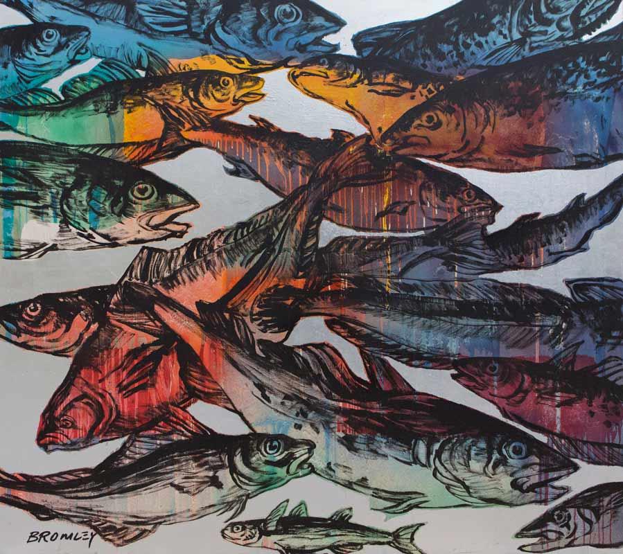 David Bromley Big Fish Painting