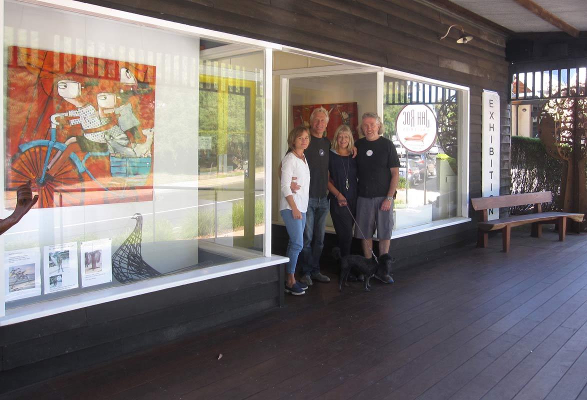Gallery Owners Lara Gary Joanne David In Front Of Gallery