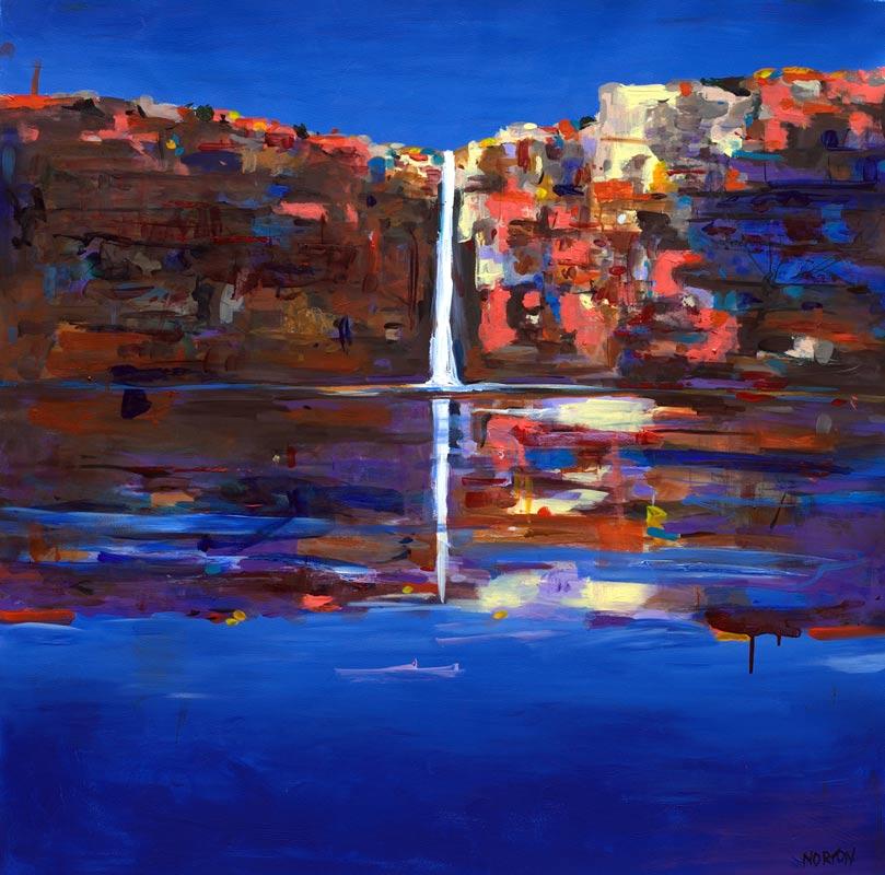 Helen Norton Kimberley Waterfall Painting
