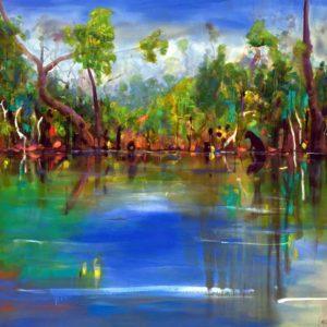 Helen-Norton-Rufous-at-Margaret-River-Painting