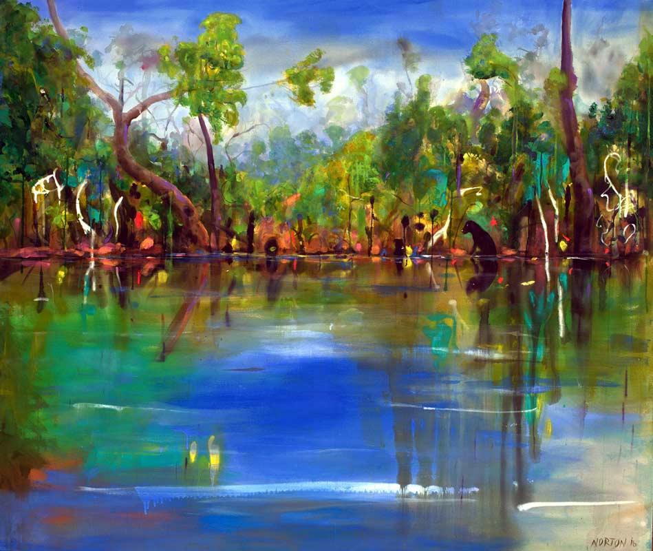 Helen Norton Rufous At Margaret River Painting
