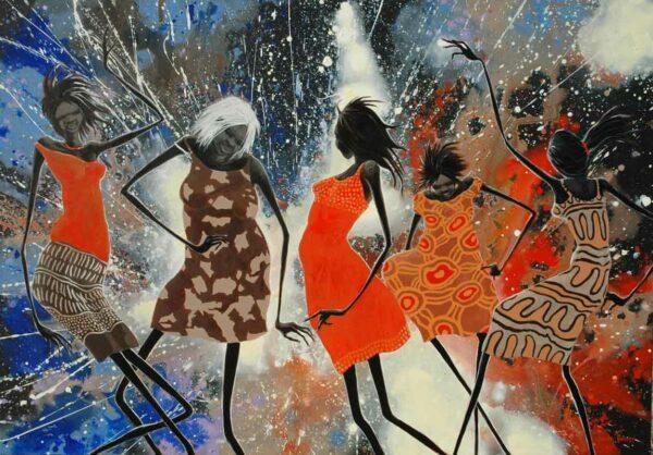 Judy Prosser Womens Dance 3 Acrylic Painting