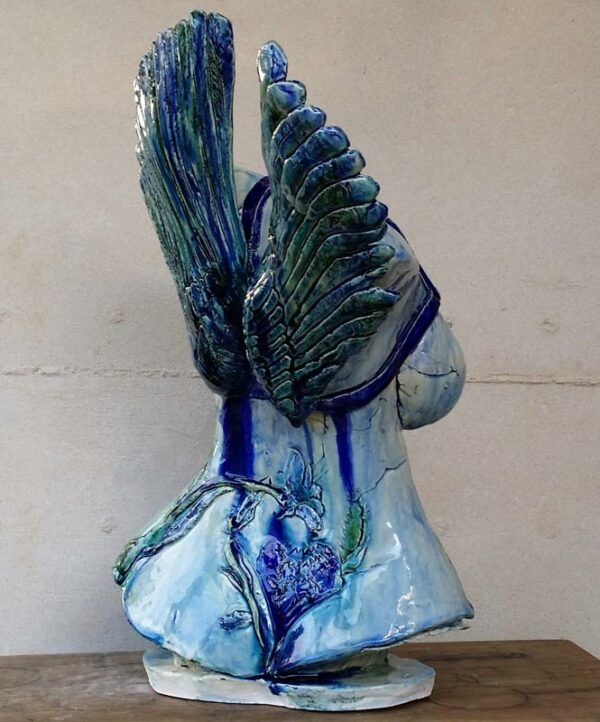 Lauren Rudd Strap On Your Wings And Fly Sculpture Back