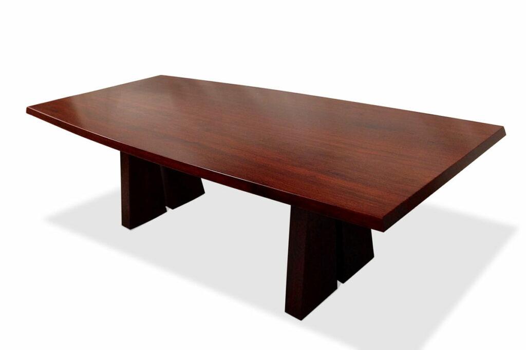 Nara Dining Table Jarrah Timber 2400L Curved Sides