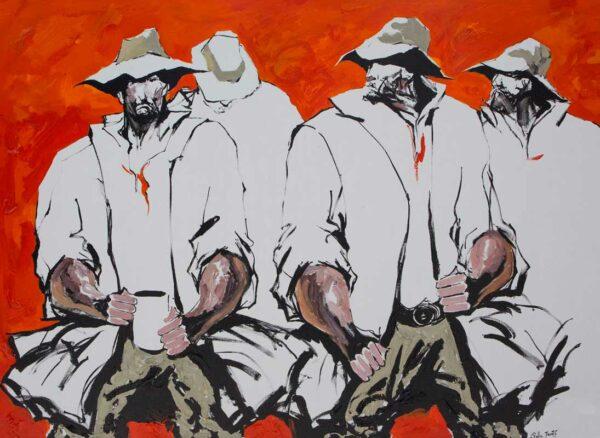 Palla Jeroff Gathering Painting