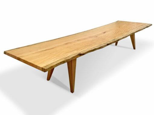 The Hull 4 2 Marri Single Slab Dining Table Angle