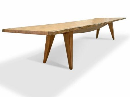 The Hull 4 2 Marri Single Slab Dining Table Side