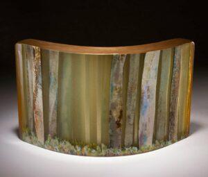 Vivienne Jagger Karri Forrest Dawn Art Glass Sculpture