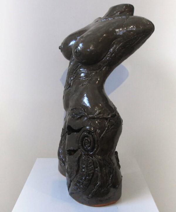 Lauren Rudd Leaves And Roses Side Sculpture 1