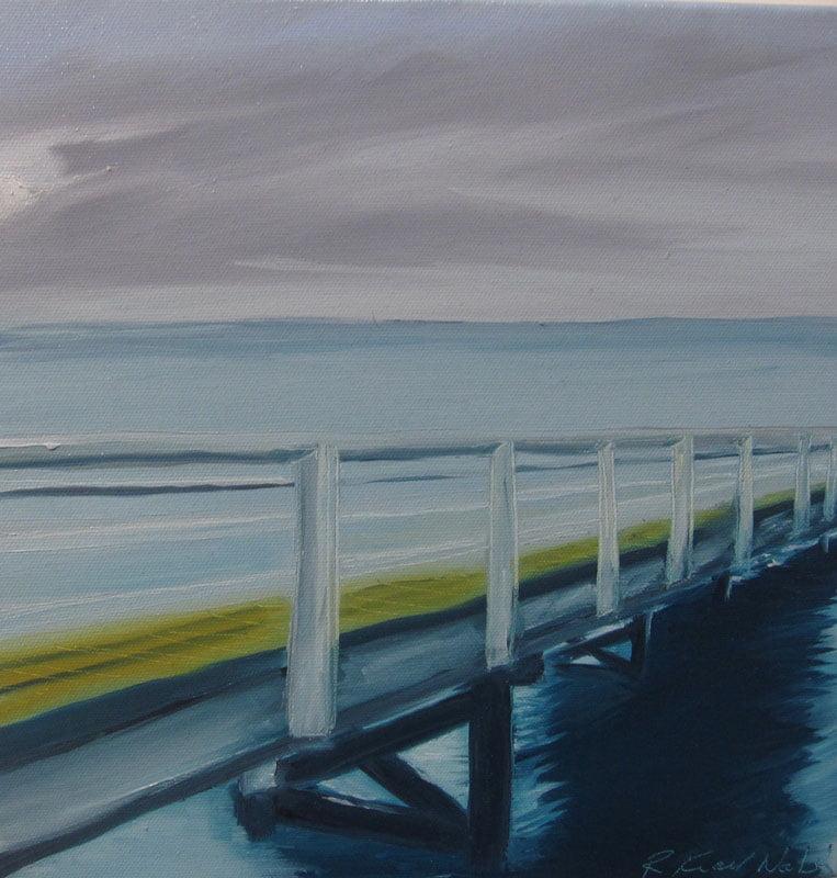 Rowena Keall Walsh Busselton Jetty Eve Painting
